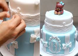 baby shower teddy bear cake how to make by cakes stepbystep