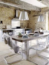 modern shabby chic kitchen precious stone old farmhouse with shabby chic details france