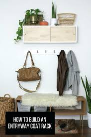 coat rack entryway wrought iron foyer image of with upholstered