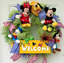 mickey mouse welcome wreath by sparkleforyourcastle on etsy
