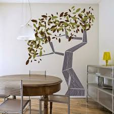 Tree Wall Paint Design In Kids Bedroom Bedroom Amazing Wall - Interior wall painting designs