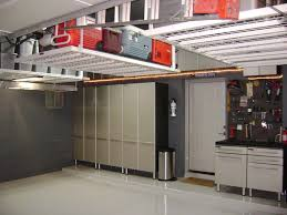 Wood Shelving Designs Garage by Warm Wooden Shelves Rustic Brick Wall Spacious Garage Storage