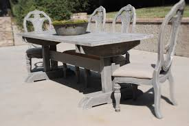 acme wallace dining table weathered blue washed best choice of weathered grey dining table antique in affordable
