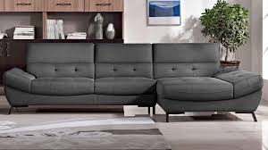 Tufted Sofa With Chaise by Dark Grey Fabric Tufted Rider Sectional Zuri Furniture