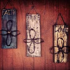 wooden signs decor distressed rustic wood signs with barbwire cross or heart