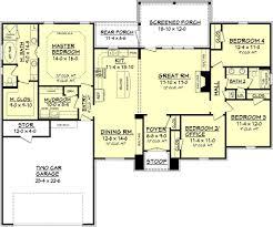 2 000 square feet european style house plan 4 beds 2 baths 2000 sq ft plan best