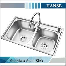 Cheap Kitchen Sinks Picture Of Teak Double Kitchen Sink Kitchens - Stainless steel kitchen sinks cheap