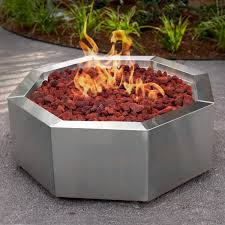 Stainless Steel Firepit Bbqguys 42 Inch Stainless Steel Octagon Pit Gas