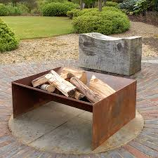 Modern Firepits Chunk Welded Steel Pit Steel Pit Steel And Gardens
