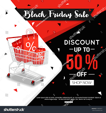 black friday sale stores black friday sale banner online shop stock vector 515591077