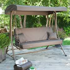 Swinging Patio Chair Porch Swing Bed With Canopy Patio Outdoor Decoration