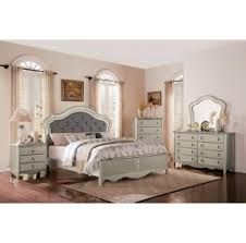 Silver Queen Bed Toulouse Silver Bedroom Furniture Collection For 79 94 Furnitureusa