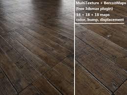 floorboards parquet antique oak multitexture 3d model