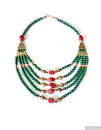 ethnic necklace images Ethnic look bottle green beads necklace jpg