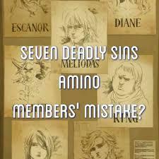 seven deadly sins seven deadly sins amino members u0027 mistake seven deadly sins amino