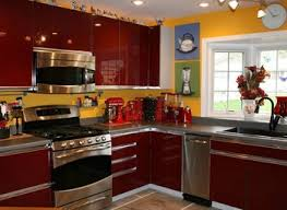 Red Kitchens With White Cabinets Black Red White Kitchen Elegant White Kitchen Cabinets With Black