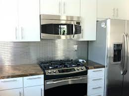 Stainless Steel Kitchen Backsplash With Shelf Stainless Steel Tiles For Backsplash Peel And Stick Reviews Smart