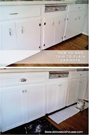 update flat kitchen cabinet doors these kitchen cabinets had a cheap makeover that looks like