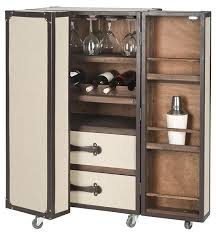 Trunk Bar Cabinet This Bar Cabinet Is Too Cool Supported By Casters For Mobility