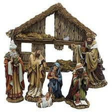 home interior nativity set amazon com kurt adler 6 inch 7 resin nativity set with