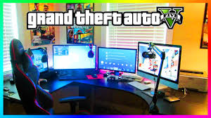 gaming office setup mrbossftw u0027s updated 2015 gta 5 inspired office u0026 gaming setup tour