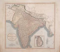 British India Map by Antique Maps Of India
