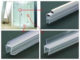 shower doors seals u0026 curved shower screen rubber trim wiper seal