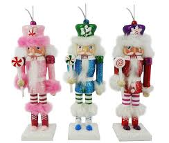 orn010 6 inch fluffy haired nutcrackers with in pink blue