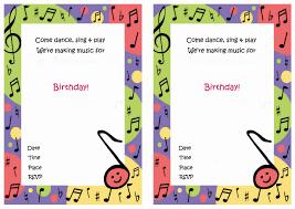 music free printable birthday party invitations birthday party