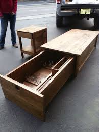 Bench Seat Gun Cabinet Coffee Table With Hidden Gun Storage Collection Pinterest