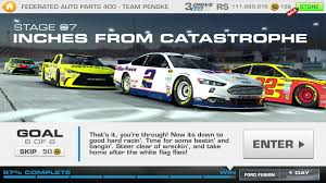 Ford Racing Flag Federated Auto Parts 400 Stage 07 Goal 6 Of 6 Nascar Real Racing 3