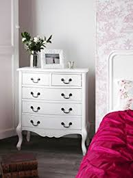 shabby chic antique white kingsize bed with wooden headboard