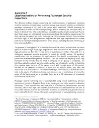 appendix d legal implications of performing passenger security