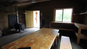 nature rain trees cabin interior of log cabin with wooden table
