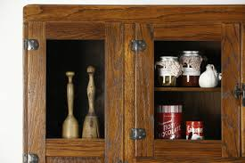 Oak Kitchen Pantry Cabinet Sold Hoosier Oak Kitchen Pantry Cupboard Roll Top 1915 Antique
