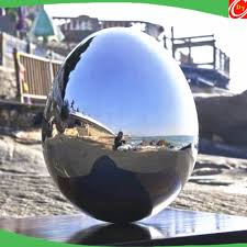 fabrication polished garden ornament stainless steel egg
