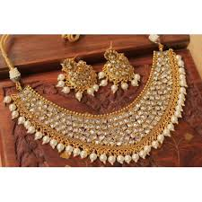 bridal choker necklace images Buy awesome designer kundan bridal choker necklace set online jpg
