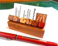 Desk Name Plates With Business Card Holder Oak Wood Desk Name Plate Business Card Holder By Dustynewt For