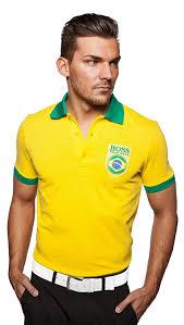 The Flag Of Brazil Amazon Com Hugo Boss Mens Brazil Paddy Flag Polo Shirt Green