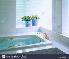 The Baby Bath Time In The Bathroom Place Stock Photo Picture And - The bathroom place