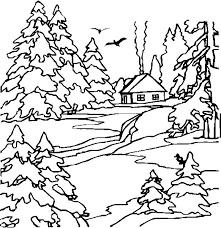 19 dessins de coloriage Paysage à imprimer