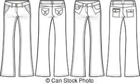 vector clipart of ladies denim jeans boyfriend cut csp2540530