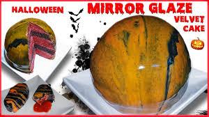 Halloween Coffin Cake by Halloween Mirror Glaze Velvet Cake Bonus Strawberry Filled