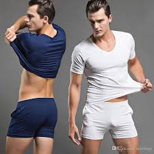 best pajamas set casual sports sleepwear mens
