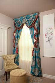 Blue Swag Curtains Blue Lantern Swag Pelmet Valances Curtain Drapes 50
