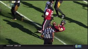 bentley college football 2016 usc vs missouri cale garrett ejected for targeting on jake