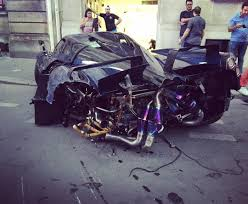 bugatti crash one off pagani huayra pearl crashed in paris