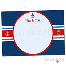 nautical thank you cards nautical baby shower thank you cards printable nautical ba shower