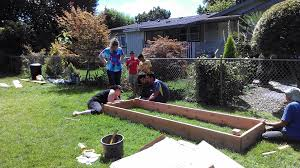 children u0027s garden construction at rose grove mobile home community