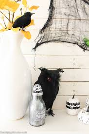 diy halloween decor the year of living fabulously super quick and thrifty halloween mantel decor the happy housie